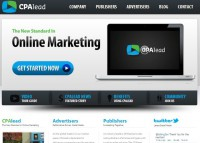 Snapshot of CPAlead online marketing company's website