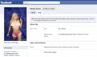 Samy's home page - Anna Faris' Facebook account