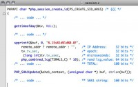PHP session code