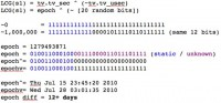 Code for calculating s1 - the epoch that the PHP was seeded