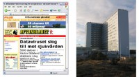 Newspaper report about an in-house infection at a Swedish hospital