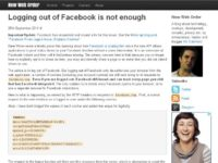 Australian blogger's research: even when logged out, you are still being tracked by Facebook