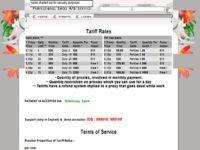 Sreenshot of a web page selling botnets