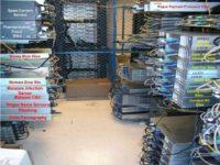 Rack environment run by cybercriminals