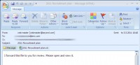 Spoofed email RSA was hit by