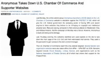 Story on U.S. Chamber of Commerce websites taken down by the Anonymous