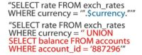 Stealing exchange rate data