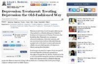 Web page on depression treatment