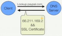 Server's certificate obtained directly from DNS record