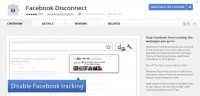 'Facebook Disconnect' extension on Chrome Web Store