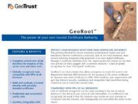 GeoTrust provides the option of buying a certificate authority