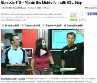 Hak5 video tutorial on using SSLstrip