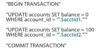 SQL injection – messing with transactions