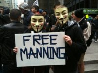 Anonymous supporting Bradley Manning