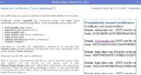 Mikko's report on 'Case Comodogate' listing rogue certificates