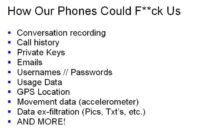 Phone-related private data