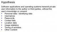 Hypothesis specification
