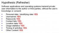 Privacy breach hypothesis confirmed