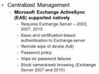 iOS centralized management details