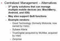 Alternatives to centralized management