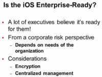 iOS is enterprise-ready: true or false?