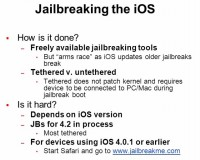 iOS jailbreaking process details