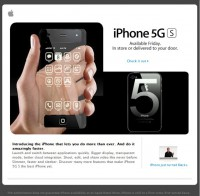 Fake site about inexistent new iPhone