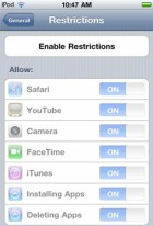 Enabling Restrictions