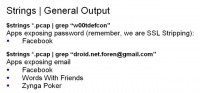 Apps exposing password and email