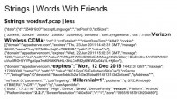 User data collected by 'Words With Friends'
