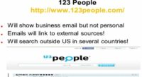 Basic facts on 123people resource