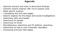 Agenda of the presentation