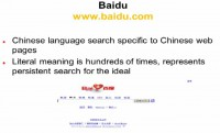 Advantages of Baidu search