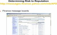 Using finance message boards to estimate risk to reputation