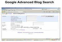 Google Advanced Blog Search settings