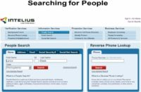 Searching a person via Intelius