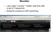 Monitter allows multiple keyword search