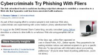 InformationWeek report on phishing through fliers