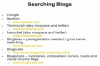 List of services searching blogs