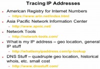 Major IP address tracing tools