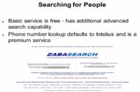 Peculiarities of ZabaSearch