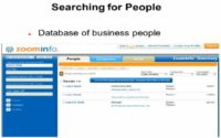 ZoomInfo contains data on business people