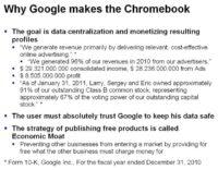Google's motivation for making the Chromebook