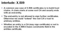Building trust chains with X.509 certification