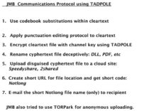 Tadpole communications protocol