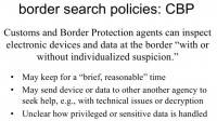 Somewhat blurred policies of CBP