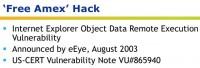 'Free Amex' hack - vulnerability details
