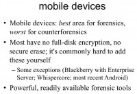 Mobile devices – not really secure