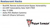 Technical details of the restaurant hacks