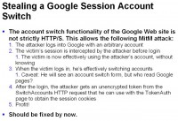 Man-in-the-middle attack simulating Google account switch